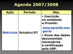 agenda 2007 2008