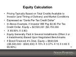 equity calculation