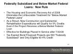 federally subsidized and below market federal loans new rule