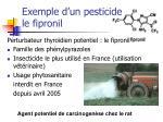 exemple d un pesticide le fipronil