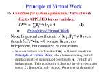 principle of virtual work