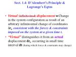 sect 1 4 d alembert s principle lagrange s eqtns