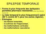 epilepsie temporale