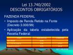 lei 13 740 2002 descontos obrigat rios2
