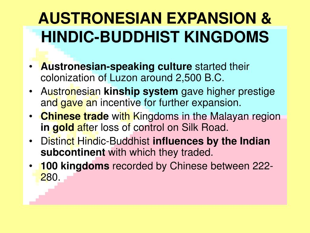 AUSTRONESIAN EXPANSION &