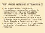 como utilizar instancias internacionales1