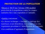 protection de la population