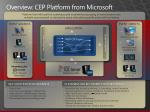 overview cep platform from microsoft