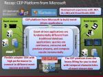 recap cep platform from microsoft
