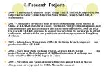 3 research projects