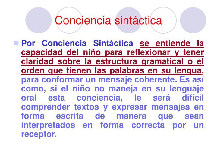 Conciencia sintáctica