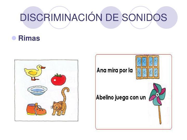 DISCRIMINACIÓN DE SONIDOS
