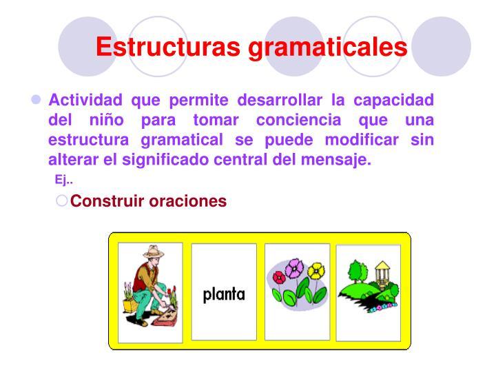 Estructuras gramaticales