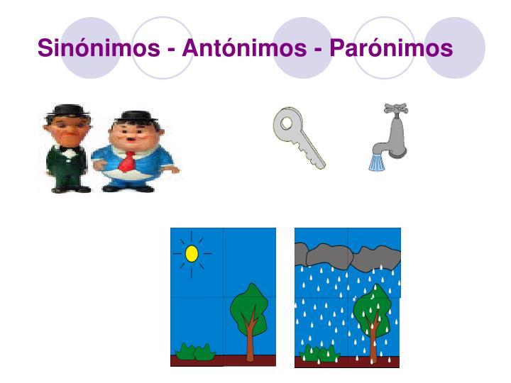Sinónimos - Antónimos - Parónimos