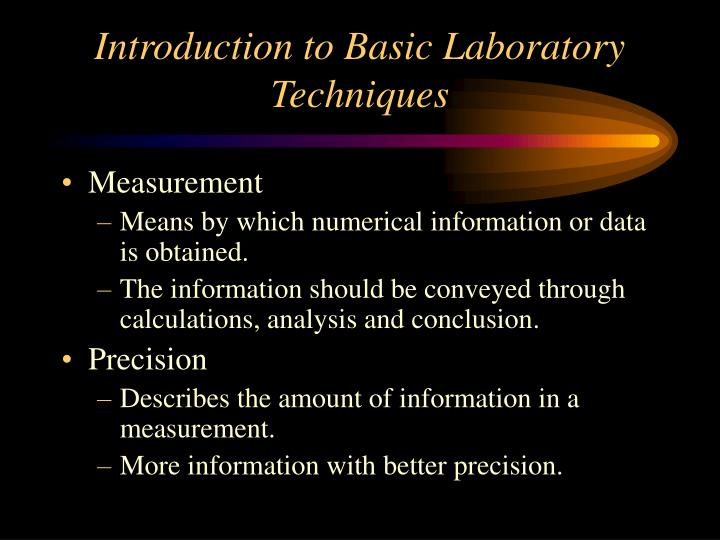 introduction to basic laboratory techniques n.