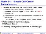 model 5 1 simple call center animation cont d