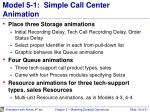 model 5 1 simple call center animation
