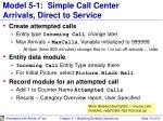 model 5 1 simple call center arrivals direct to service