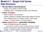 model 5 1 simple call center data structure