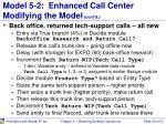 model 5 2 enhanced call center modifying the model cont d1