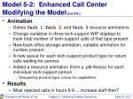 model 5 2 enhanced call center modifying the model cont d3