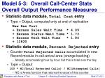 model 5 3 overall call center stats overall output performance measures