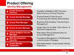 product offering identity management