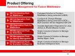 product offering systems management for fusion middleware