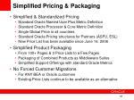 simplified pricing packaging