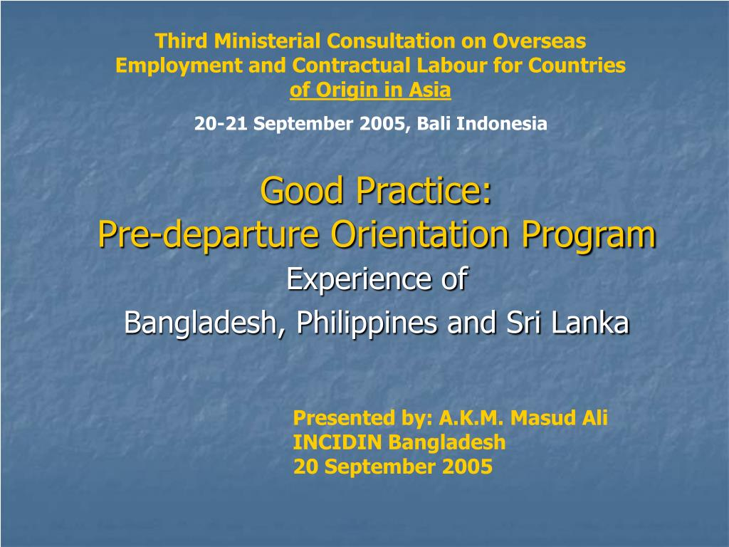 Third Ministerial Consultation on Overseas Employment and Contractual Labour for Countries
