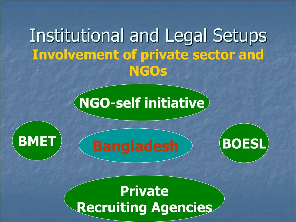 Institutional and Legal Setups