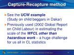 capture recapture method
