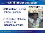 child labour statistics