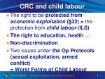 crc and child labour