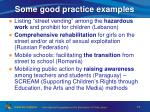 some good practice examples