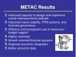 metac results