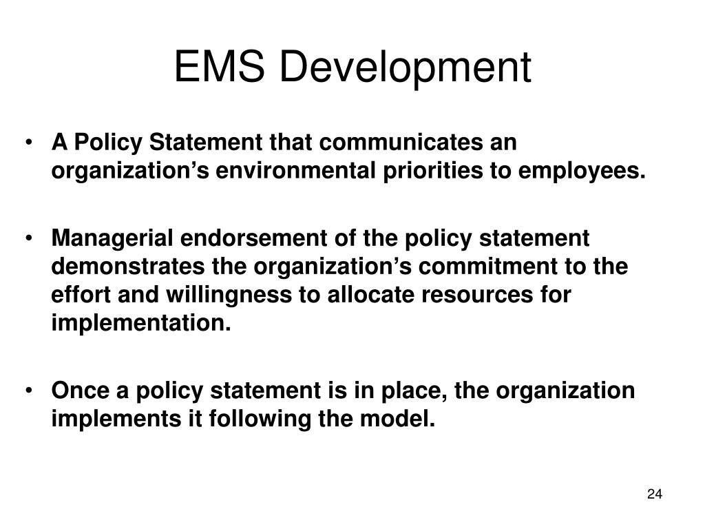EMS Development