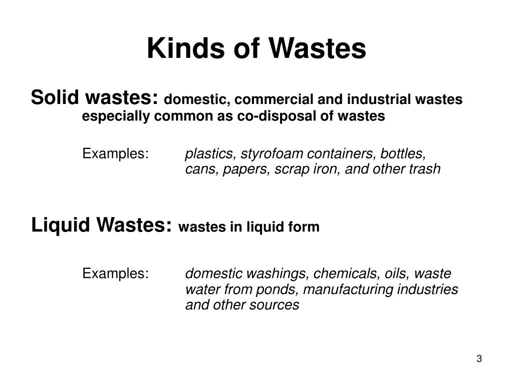 Kinds of Wastes