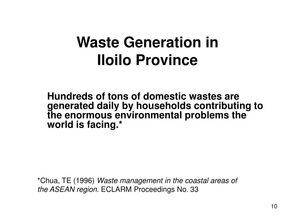 Waste Generation in