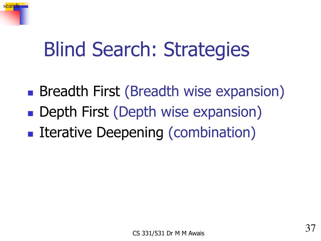 Blind Search: Strategies