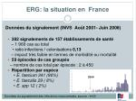 erg la situation en france