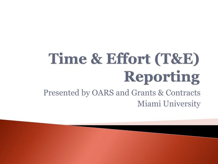 time effort t e reporting n.