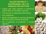 valor proteico y nutricional de los productos nativos