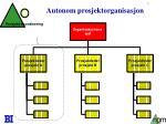 autonom prosjektorganisasjon