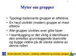 myter om grupper
