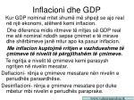 inflacioni dhe gd p