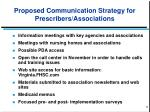 proposed communication strategy for prescribers associations1