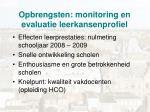 opbrengsten monitoring en evaluatie leerkansenprofiel