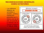 recomendaciones generales sobre extintores6