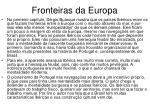 fronteiras da europa